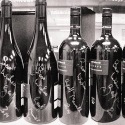 Signed Magnum bottles by Geoff